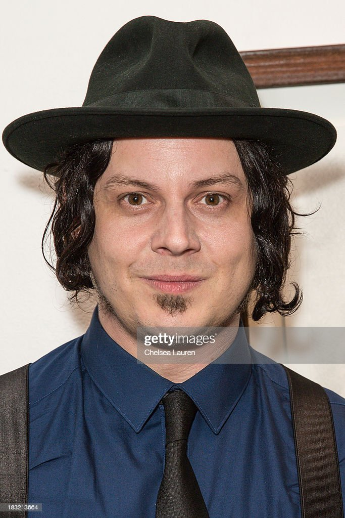Musician Jack White attends the opening reception for Mercedes Helnwein's exhibit 'The Trouble With Dreams' at Merry Karnowsky Gallery on October 5, 2013 in Los Angeles, California.