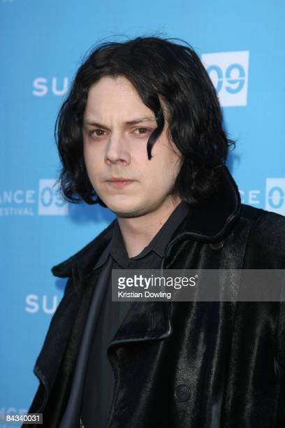Musician Jack White attends the screening of 'It Might Get Loud' held at the Library Center Theatre during the 2009 Sundance Film Festival on January...