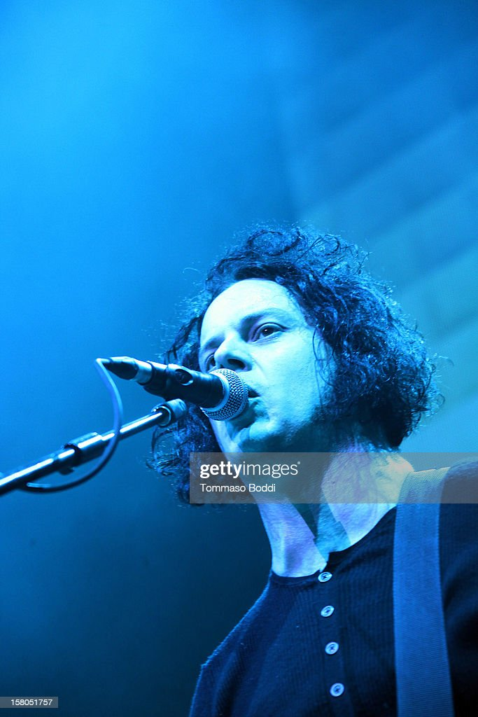 Musician Jack White performs at the KROQ's Acoustic Christmas held at the Gibson Amphitheatre on December 9, 2012 in Universal City, California.