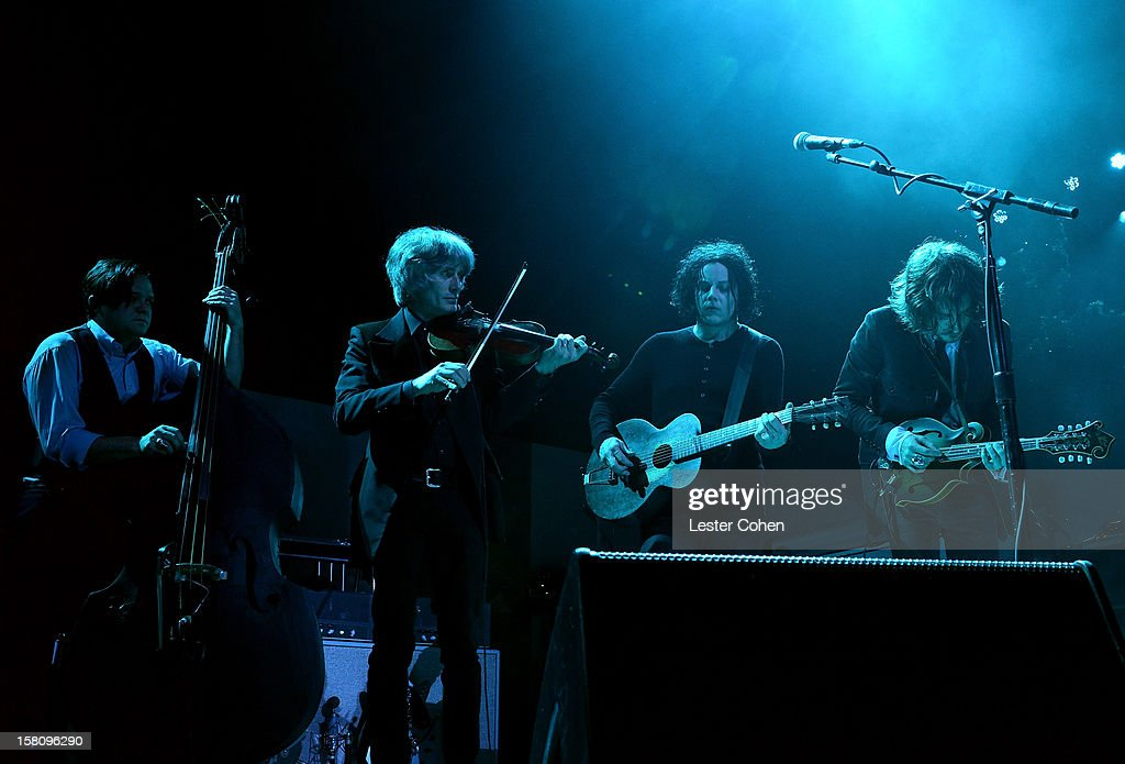Musician Jack White performs onstage at KROQ's Acoustic Christmas - Night 2 at Gibson Amphitheatre on December 9, 2012 in Universal City, California.