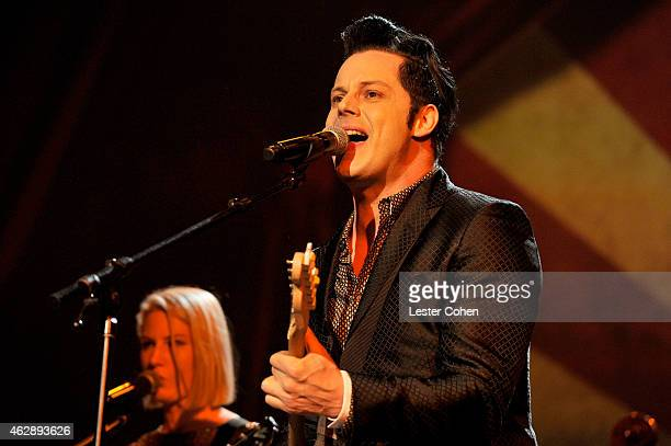 Musician Jack White performs onstage at the 25th anniversary MusiCares 2015 Person Of The Year Gala honoring Bob Dylan at the Los Angeles Convention...