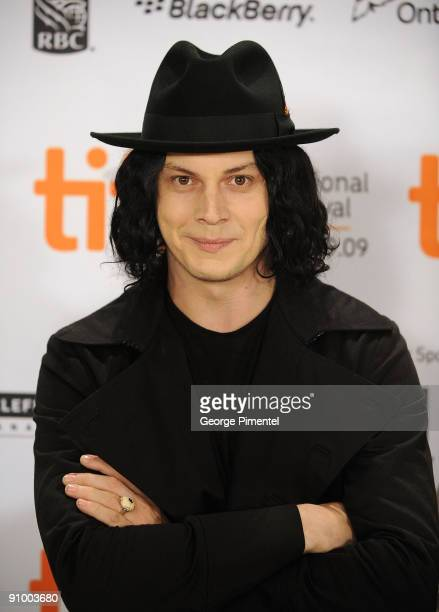 Musician Jack White speaks onstage at the 'White Stripes Under The Great White Northern Lights' press conference held at the Scotiabank Theatre on...