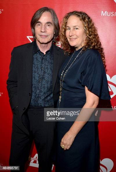 Musician Jackson Browne and Dianna Cohen attend 2014 MusiCares Person Of The Year Honoring Carole King at Los Angeles Convention Center on January 24...