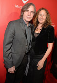 Musician Jackson Browne and Dianna Cohen attend the 25th anniversary MusiCares 2015 Person Of The Year Gala honoring Bob Dylan at the Los Angeles...