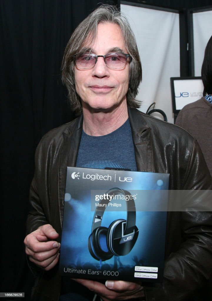 Musician <a gi-track='captionPersonalityLinkClicked' href=/galleries/search?phrase=Jackson+Browne&family=editorial&specificpeople=210572 ng-click='$event.stopPropagation()'>Jackson Browne</a> attends the Gift Lounge at the 28th Rock and Roll Hall of Fame Induction Ceremony presented by I Can't Believe It's Not Butter! 'Breakfast After Dark' produced by On 3 Productions at Nokia Theatre L.A. Live on April 17, 2013 in Los Angeles, California.