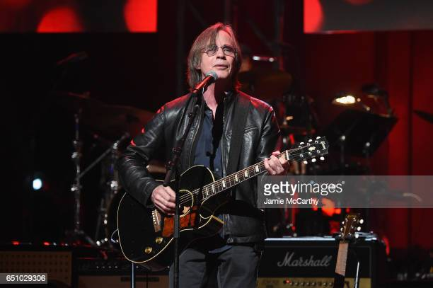 Musician Jackson Browne performs onstage during 'Love Rocks NYC A Change is Gonna Come Celebrating Songs of Peace Love and Hope' A Benefit Concert...
