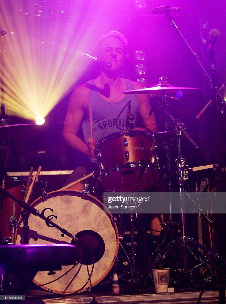 Musician Jacob Tilley of Young The Giant performs at the Power & Light District on July 6, 2012 in Kansas City, Missouri.