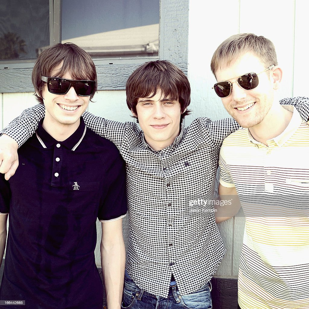 Musician <a gi-track='captionPersonalityLinkClicked' href=/galleries/search?phrase=Jake+Bugg&family=editorial&specificpeople=9148742 ng-click='$event.stopPropagation()'>Jake Bugg</a> (C) and band members pose backstage during day 1 of the 2013 Coachella Valley Music & Arts Festival at the Empire Polo Club on April 12, 2013 in Indio, California.