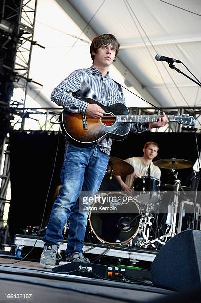 Musician Jake Bugg performs onstage during day 1 of the 2013 Coachella Valley Music Arts Festival at the Empire Polo Club on April 12 2013 in Indio...