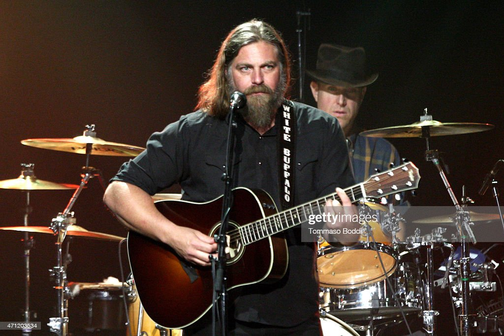 Musician Jake Smith of The White Buffalo performs on stage during the 3rd Light Up the Blues Concert to benefit Autism Speaks held at the Pantages Theatre on April 25, 2015 in Hollywood, California.