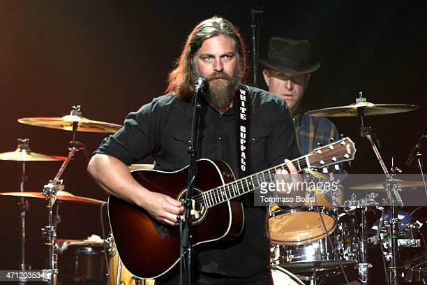 Musician Jake Smith of The White Buffalo performs on stage during the 3rd Light Up the Blues Concert to benefit Autism Speaks held at the Pantages...