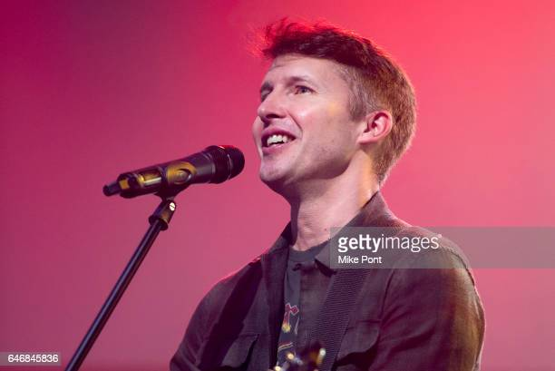Musician James Blunt performs to promote his new album 'The Afterlove' at Build Studio on March 1 2017 in New York City