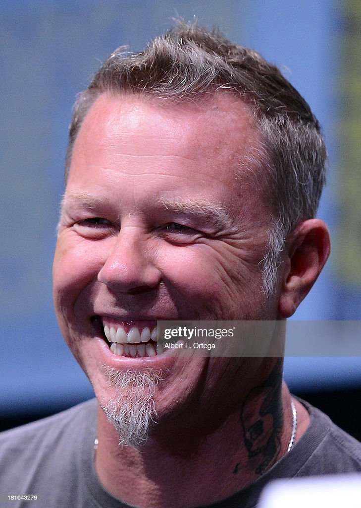 Musician <a gi-track='captionPersonalityLinkClicked' href=/galleries/search?phrase=James+Hetfield&family=editorial&specificpeople=178297 ng-click='$event.stopPropagation()'>James Hetfield</a> attends At The Drive-In With Metallica's 'Through The Never' as part of Comic-Con International 2013 held at San Diego Convention Center on Friday July 19, 2012 in San Diego, California.