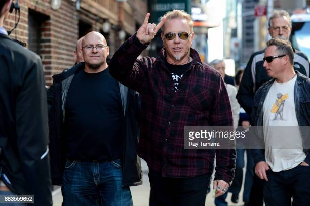 Musician James Hetfield of Metallica enters the 'The Late Show With Stephen Colbert' taping at the Ed Sullivan Theater on May 15 2017 in New York City