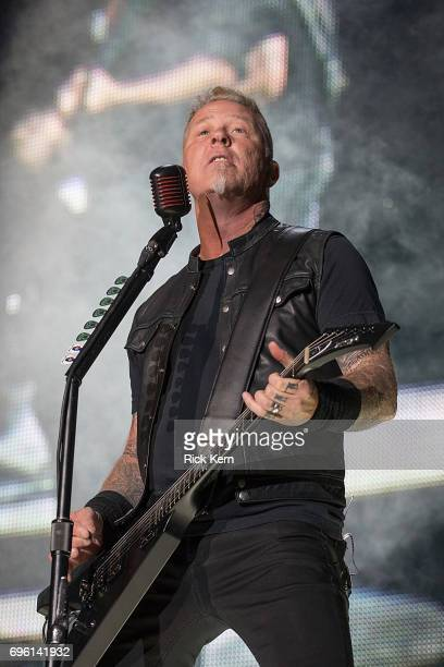 Musician James Hetfield of Metallica performs in concert at the Alamodome on June 14 2017 in San Antonio Texas
