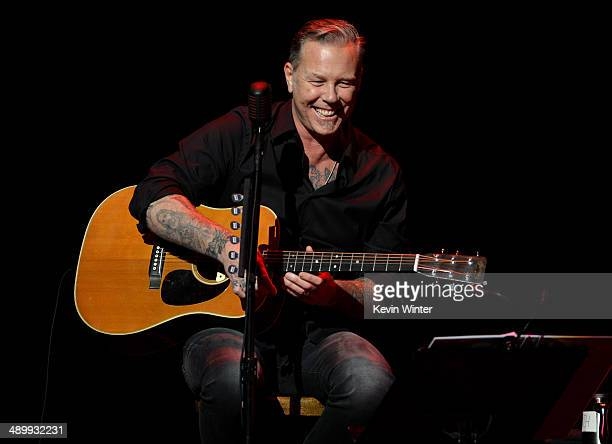 Musician James Hetfield of Metallica performs onstage at the 10th annual MusiCares MAP Fund Benefit Concert to raise funds for MusiCares' addiction...