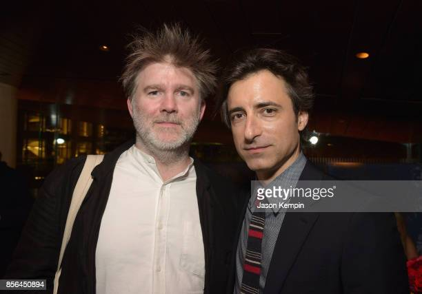 Musician James Murphy and director Noah Baumbach attend the New York Film Festival screening of The Meyerowitz Stories at Alice Tully Hall on October...