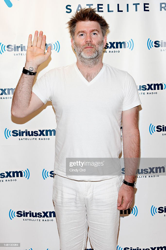 Musician <a gi-track='captionPersonalityLinkClicked' href=/galleries/search?phrase=James+Murphy&family=editorial&specificpeople=1491022 ng-click='$event.stopPropagation()'>James Murphy</a> visits the SiriusXM Studio on July 10, 2012 in New York City.