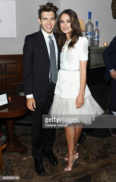 Musician James Righton and actress Keira Knightley at The Weinstein Company and Elevation Pictures' 'The Imitation Game' premiere party hosted by...