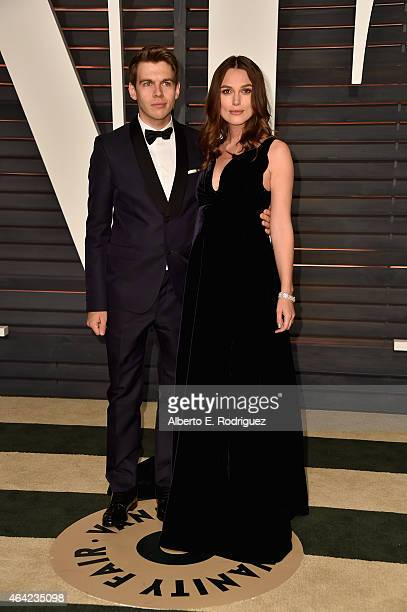 Musician James Righton and actress Keira Knightley attends the 2015 Vanity Fair Oscar Party hosted by Graydon Carter at Wallis Annenberg Center for...