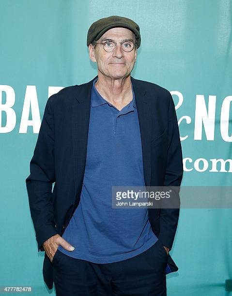 Musician James Taylor signs copies of 'James Taylor Before This World' at Barnes Noble Union Square on June 19 2015 in New York City