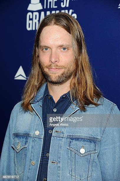 Musician James Valentine of Maroon 5 attends a celebration of the 57th annual GRAMMY Awards hosted by Delta Air Lines the official airline of the...
