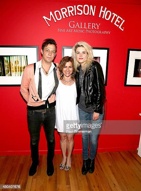 Musician Jamie Hince founder of Rational Animal Susan Brandt and musician Alison Mosshart attend Jamie Hince's 'Echo Home' Exhibition Opening...