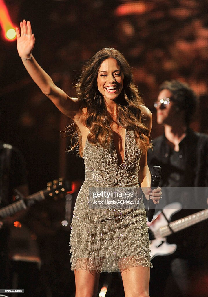 Musician Jana Kramer performs during the 48th Annual Academy Of Country Music Awards - ACM Fan Jam at Orelans Arena on April 7, 2013 in Las Vegas, Nevada.