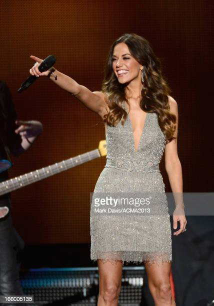 Musician Jana Kramer performs during the 48th Annual Academy Of Country Music Awards ACM Fan Jam at Orelans Arena on April 7 2013 in Las Vegas Nevada