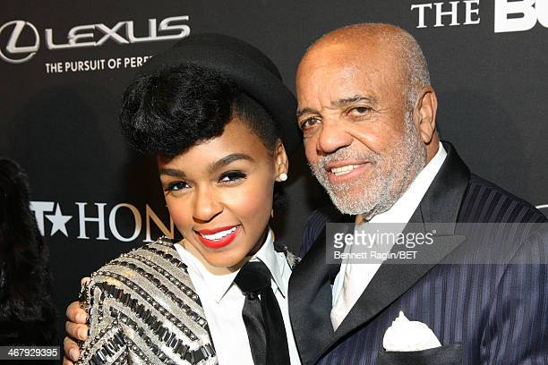 Musician Janelle Monae and producer Berry Gordy attend the BET Honors 2014 red carpet presented by Lexus at Warner Theatre on February 8 2014 in...