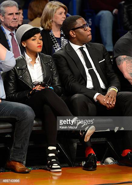Musician Janelle Monae attends the State Farm AllStar Saturday Night during the NBA AllStar Weekend 2014 at The Smoothie King Center on February 15...