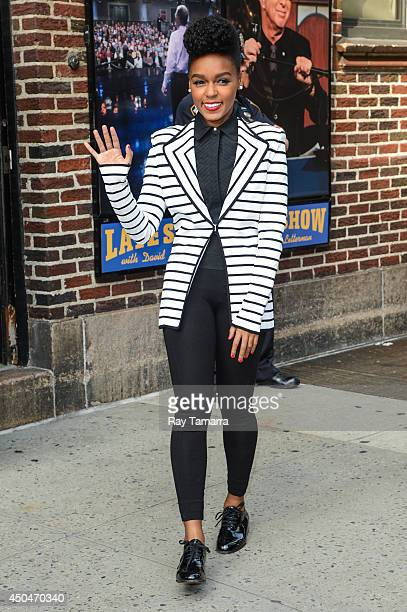 Musician Janelle Monae leaves the 'Late Show With David Letterman' taping at the Ed Sullivan Theater on June 11 2014 in New York City