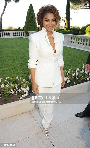 Musician Janet Jackson attends amfAR's 20th Annual Cinema Against AIDS during The 66th Annual Cannes Film Festival at Hotel du CapEdenRoc on May 23...