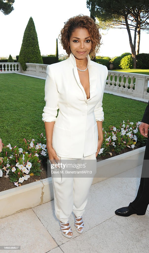Musician Janet Jackson attends amfAR's 20th Annual Cinema Against AIDS during The 66th Annual Cannes Film Festival at Hotel du Cap-Eden-Roc on May 23, 2013 in Cap d'Antibes, France.