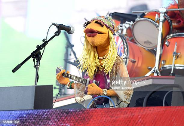 Musician Janice of the Muppets performs onstage with Dr Teeth and the Electric Mayhem at Golden Gate Park on August 7 2016 in San Francisco California