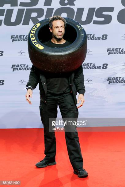 US musician Jared Hasselhoff attends the premiere for the film 'Fast Furious 8' at Sony Centre on April 4 2017 in Berlin Germany