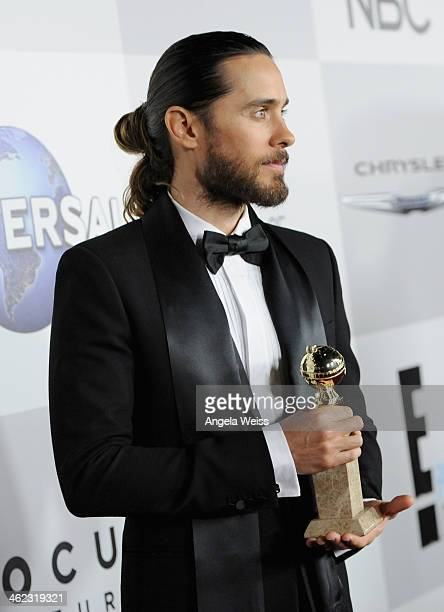Musician Jared Leto attends the Universal NBC Focus Features E sponsored by Chrysler viewing and after party with Gold Meets Golden held at The...