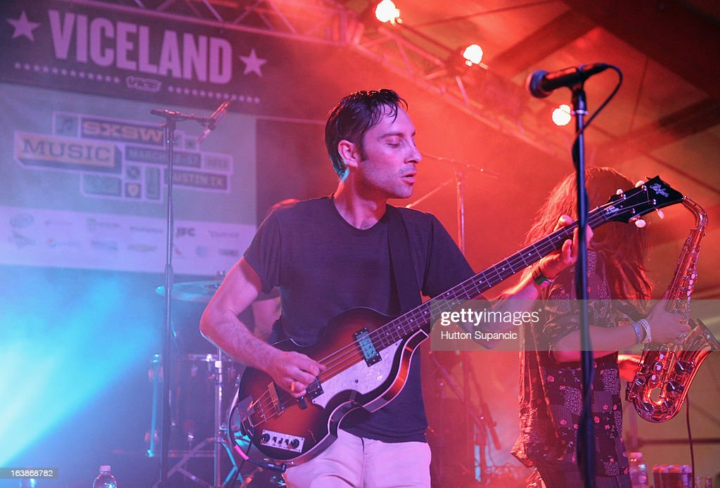Musician Jared Swilley of The Black Lips performs onstage at the VICE Kills TX Music Showcase during the 2013 SXSW Music, Film + Interactive Festival at Viceland on March 16, 2013 in Austin, Texas.
