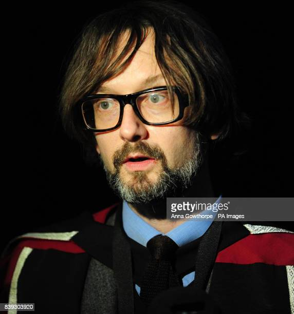 Musician Jarvis Cocker after a graduation ceremony where he received an honorary doctorate at Sheffield Hallam University Sheffield