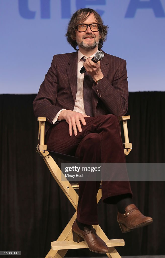 Musician <a gi-track='captionPersonalityLinkClicked' href=/galleries/search?phrase=Jarvis+Cocker&family=editorial&specificpeople=234955 ng-click='$event.stopPropagation()'>Jarvis Cocker</a> speaks onstage at the 'PULP' premiere during the 2014 SXSW Music, Film + Interactive Festival at Austin Convention Center on March 9, 2014 in Austin, Texas.