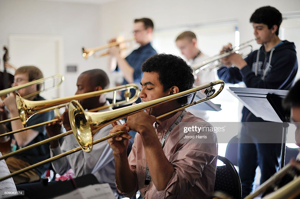 Musician Jasim Perales performs at the 58th GRAMMY Awards - GRAMMY Camp - Jazz Session Rehearsals on February 8, 2016 in Marina del Rey, California.