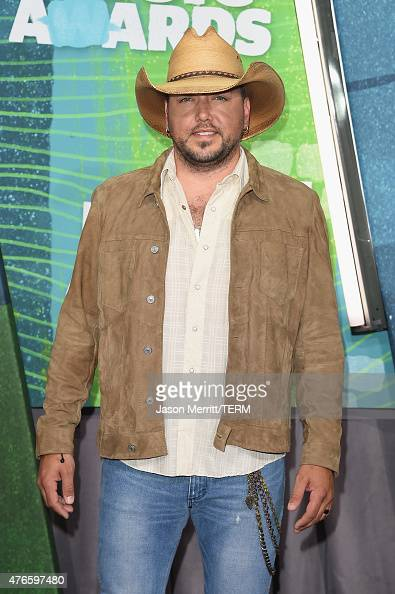 Musician Jason Aldean attends the 2015 CMT Music awards at the Bridgestone Arena on June 10 2015 in Nashville Tennessee