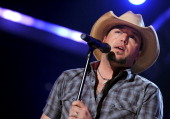 Musician Jason Aldean performs onstage during Lionel Richie and Friends in Concert presented by ACM held at the MGM Grand Garden Arena on April 2...
