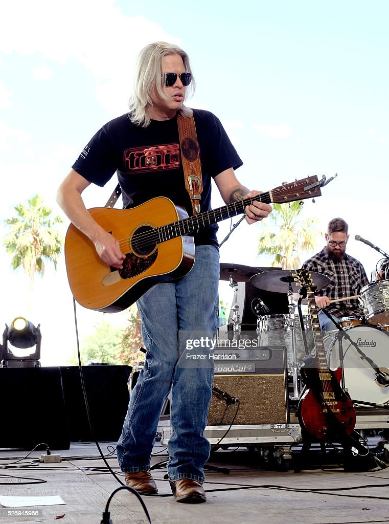 Musician Jason Boland and the Stragglers perform onstage during 2016 Stagecoach California's Country Music Festival at Empire Polo Club on May 01, 2016 in Indio, California.