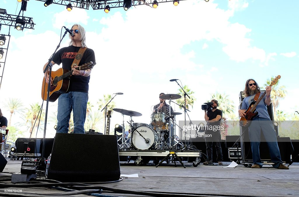 Musician Jason Boland (L) and the Stragglers perform onstage during 2016 Stagecoach California's Country Music Festival at Empire Polo Club on May 01, 2016 in Indio, California.