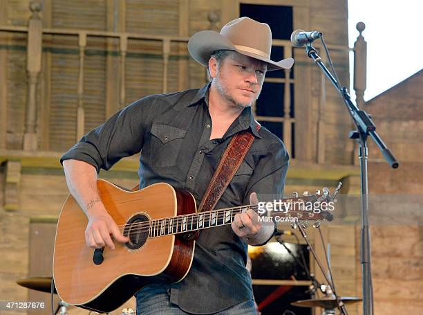 Musician Jason Eady performs onstage during day three of 2015 Stagecoach California's Country Music Festival at The Empire Polo Club on April 26 2015...
