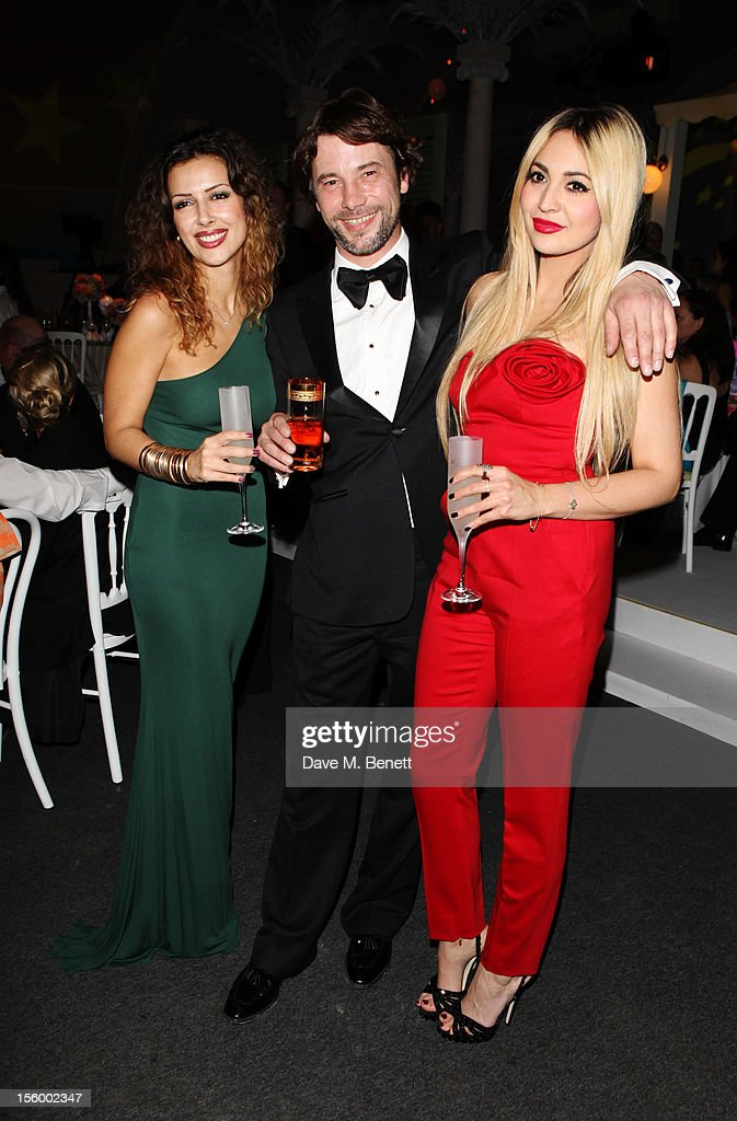 Musician Jay Kay and TV Presenter Zara Martin (R) attend the Grey Goose Winter Ball at Battersea Power Station on November 10, 2012 in London, England.