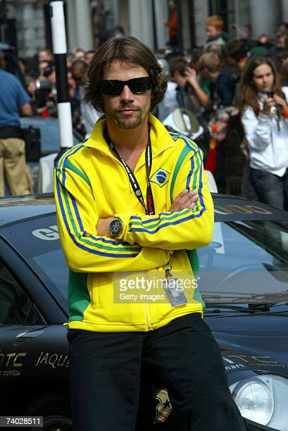 Musician Jay Kay prepares for Gumball 3000 race 2007 launch on April 29 2007 in London England The Rally starts on London's Pall Mall and competitors...