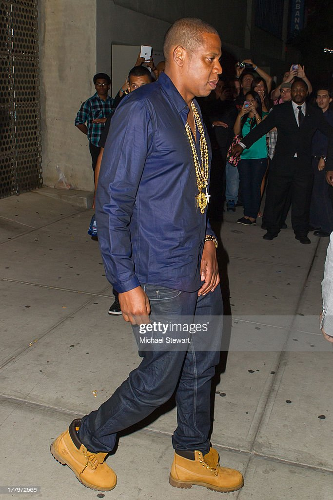 Musician Jay Z seen on the streets of Manhattan on August 25, 2013 in New York City.