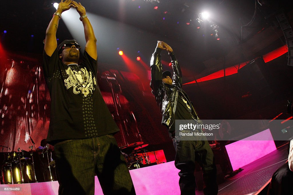 Musician Jay-Z and Memphis Bleak perform at the Grand Reopening of the The Palladium with a Special Performance by Jay-Z in Los Angeles California on October 15, 2008.